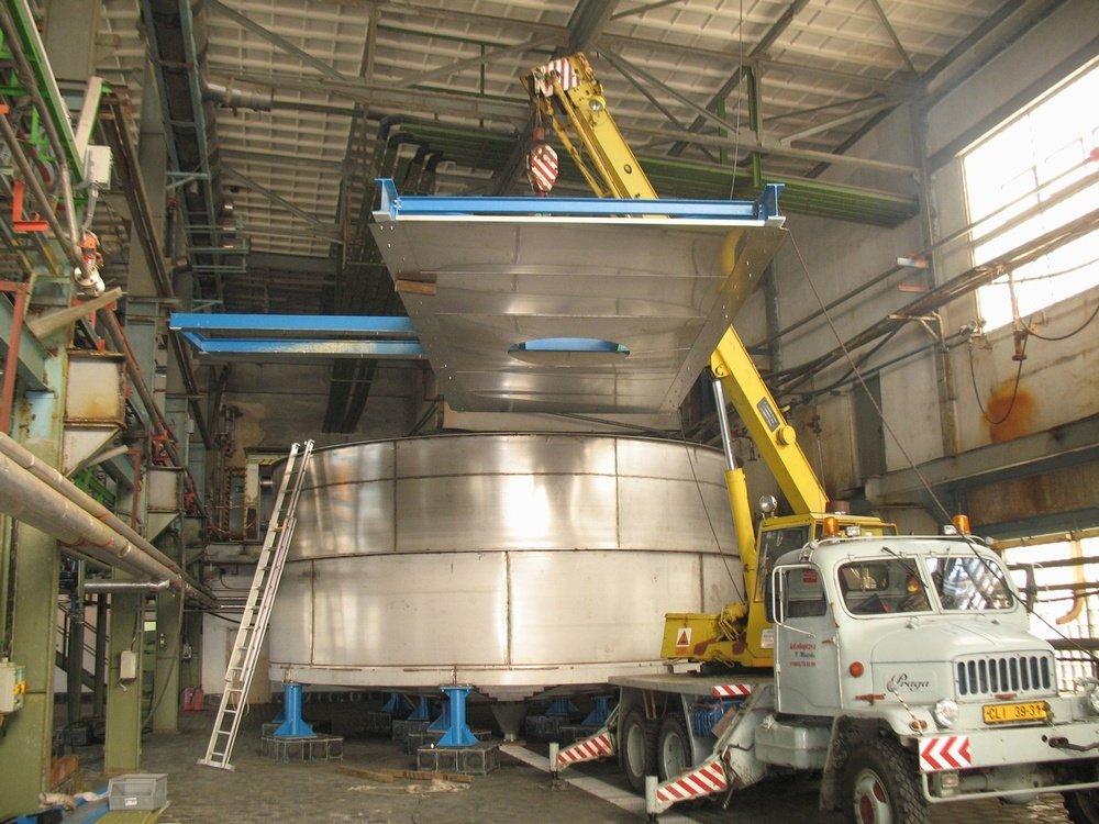 Tank 120 m3<br />DIAMO tank, material: 316Ti, volume: 120 m<sup>3</sup>.